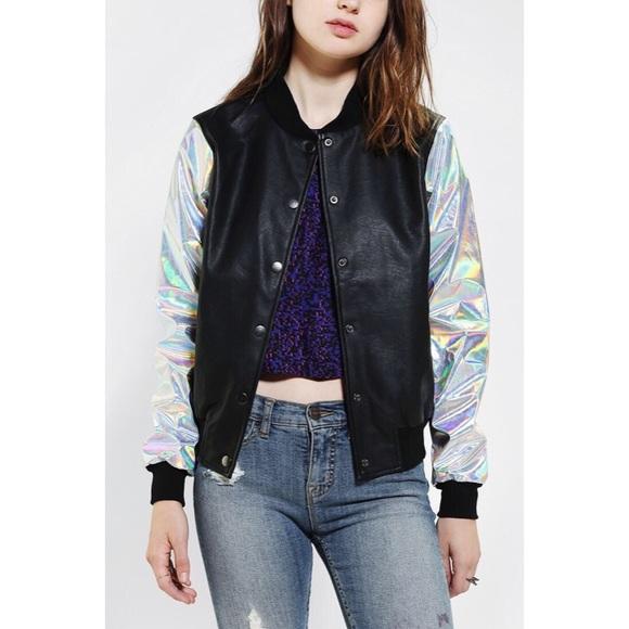 Jackets & Blazers - Lip Service Cult Hologram Bomber Jacket